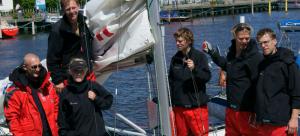 Crew beim Goldcup in Kiel 2011